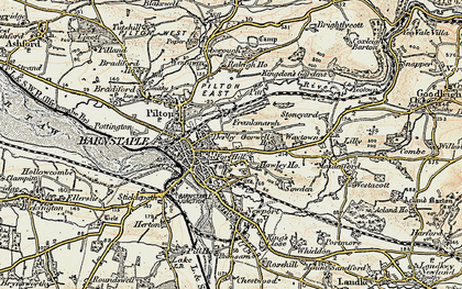 Old map of Barnstaple in 1900