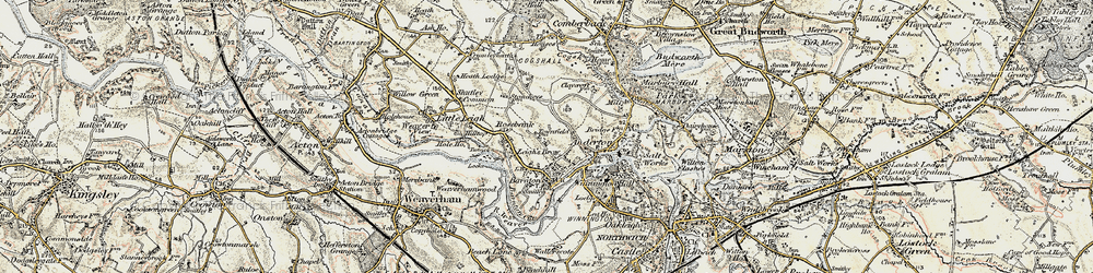 Old map of Barnton in 1902-1903