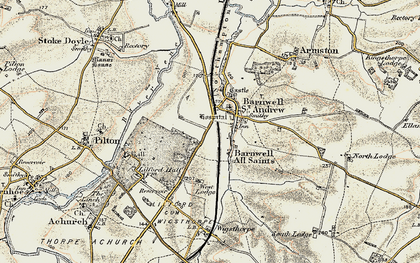 Old map of Barnwell in 1901-1902