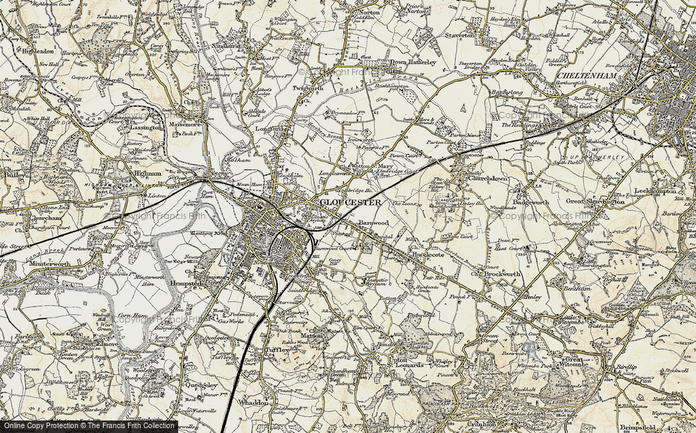 Old Map of Barnwood, 1898-1900 in 1898-1900