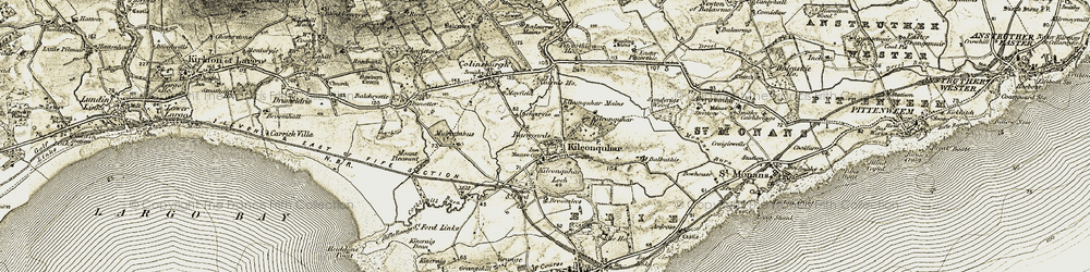 Old map of West Muircambus in 1903-1908