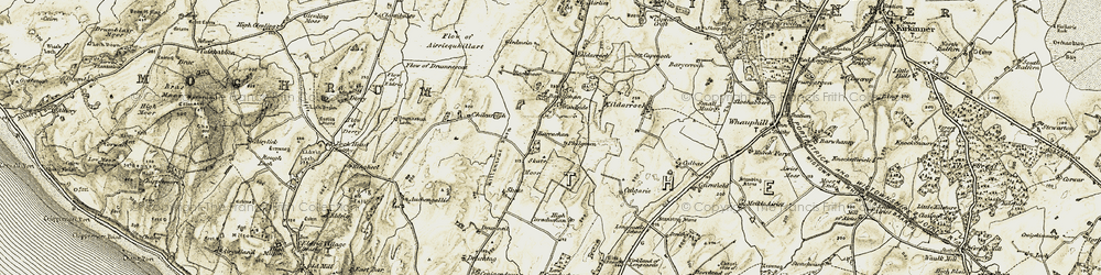 Old map of Airlies in 1905