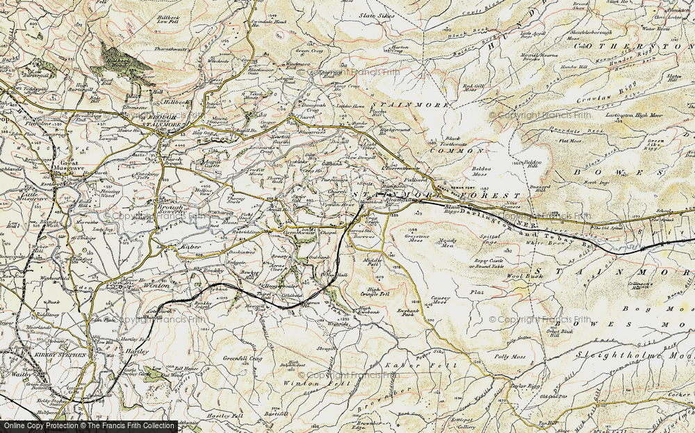Old Map of Historic Map covering Woofergill in 1903-1904