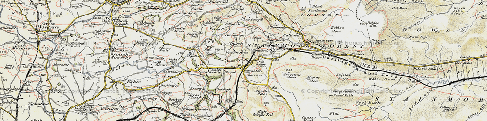 Old map of Woofergill in 1903-1904