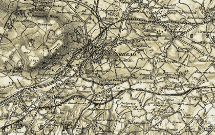 Old map of Barrhead in 1905