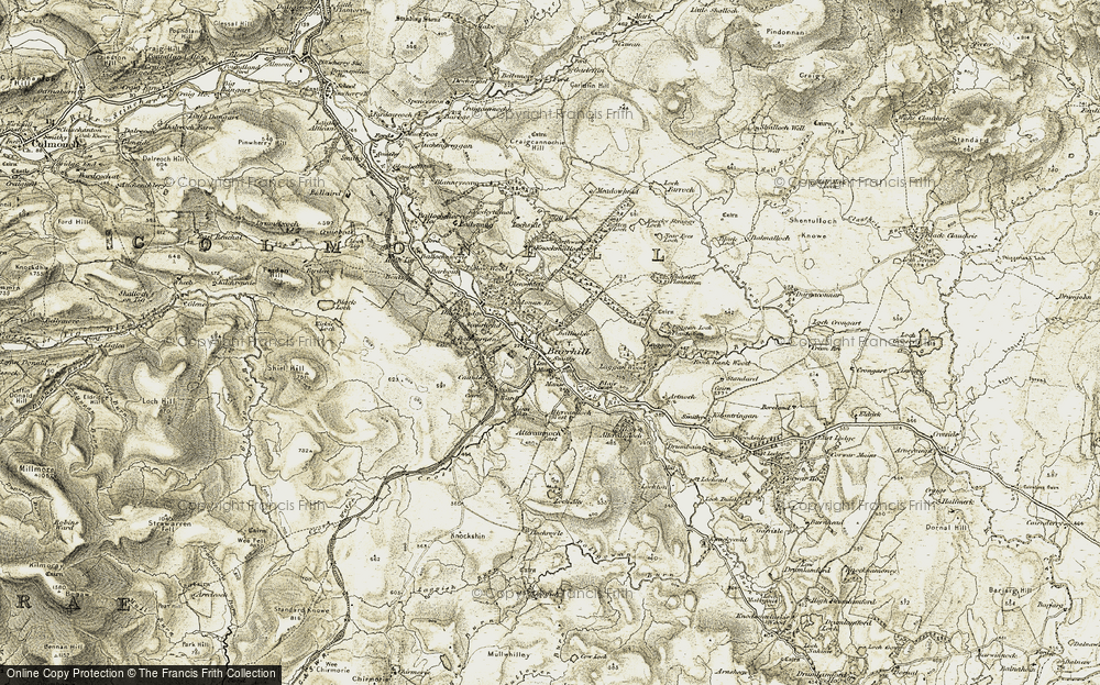 Old Map of Historic Map covering Artnoch in 1905