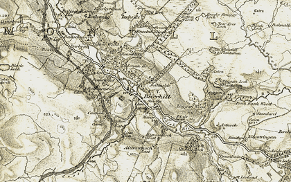 Old map of Linn Dhu in 1905