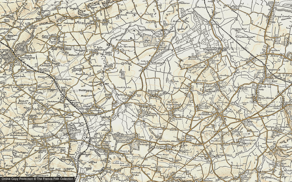 Old Map of Barrington, 1898-1900 in 1898-1900