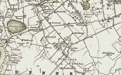 Old map of Barrock in 1912