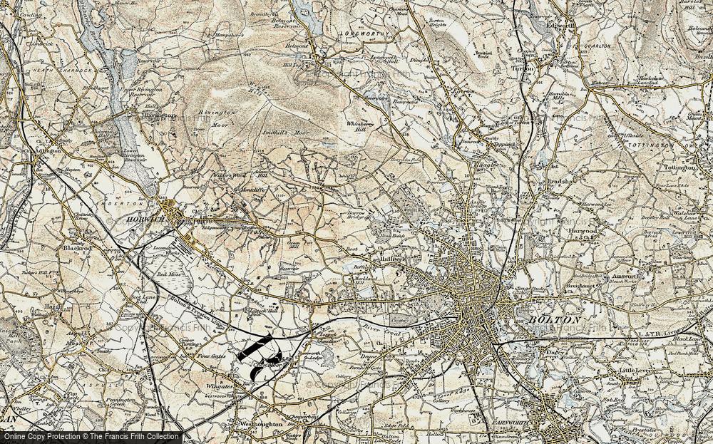 Old Map of Barrow Bridge, 1903 in 1903