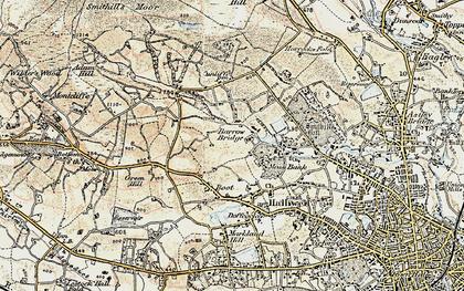Old map of Barrow Bridge in 1903