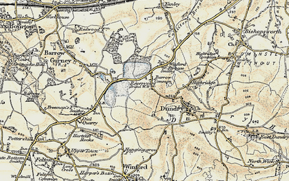 Old map of Barrow Common in 1899