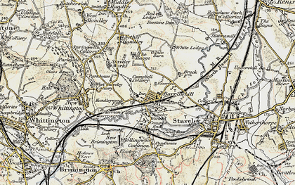 Old map of Barrow Hill in 1902-1903