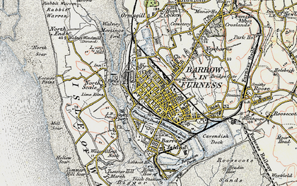 Old map of Barrow-In-Furness in 1903-1904