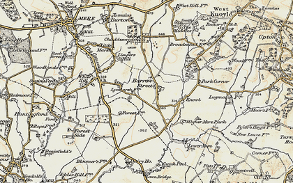 Old map of Barrow Street in 1897-1899