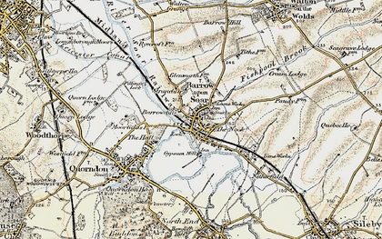 Old map of Barrow upon Soar in 1902-1903