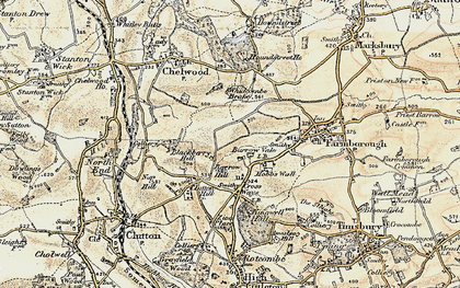Old map of Whidcombe Brake in 1899