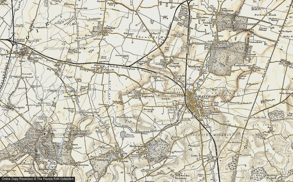Old Map of Barrowby, 1902-1903 in 1902-1903