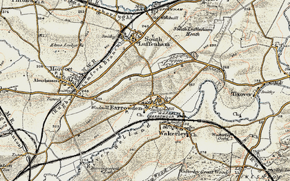 Old map of Barrowden in 1901-1903