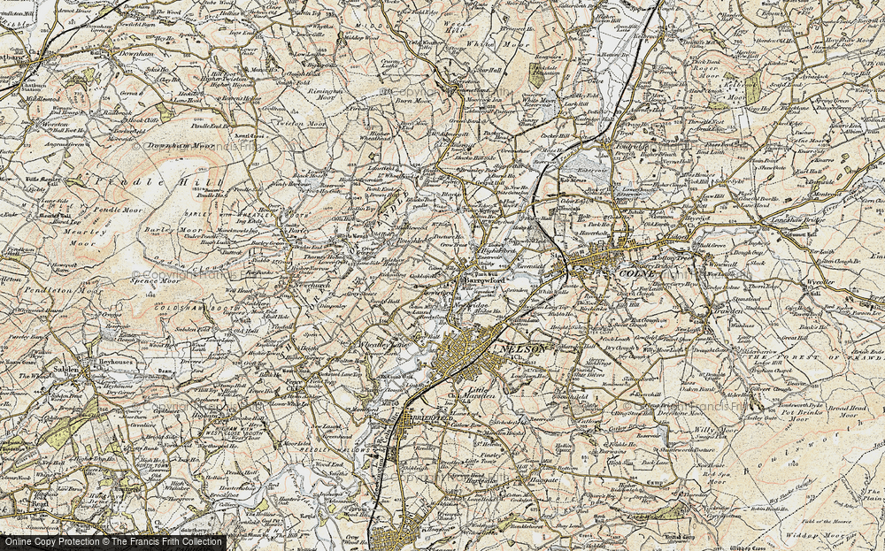 Old Map of Barrowford, 1903-1904 in 1903-1904