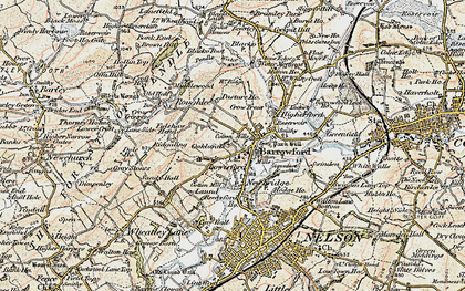 Old map of Barrowford in 1903-1904