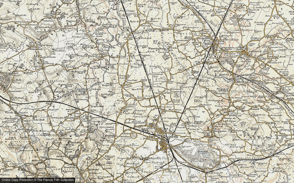 Old Map of Historic Map covering Leighton Lodge in 1902-1903