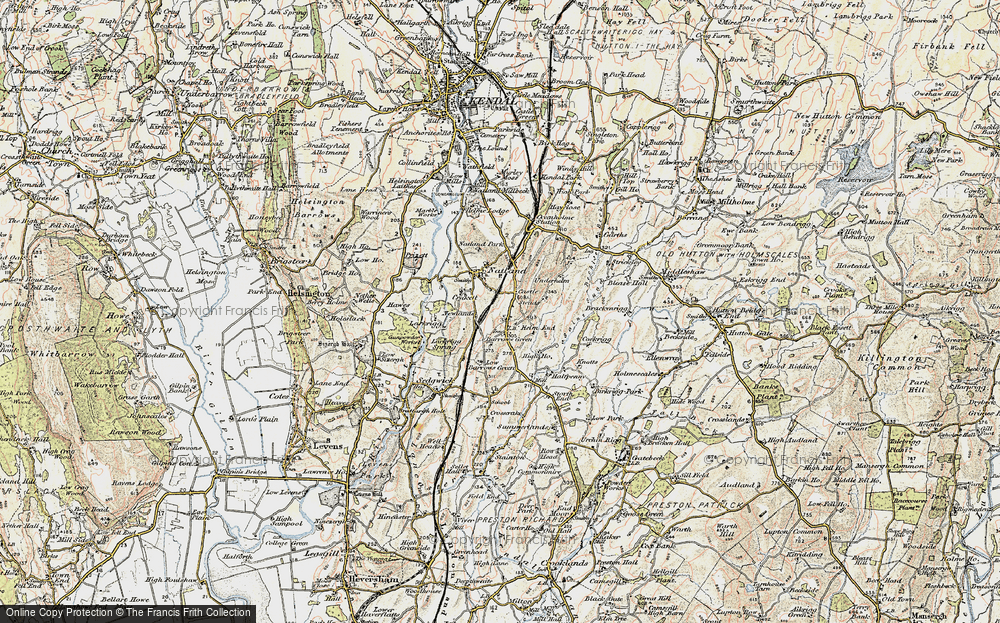 Old Map of Historic Map covering Larkrigg in 1903-1904