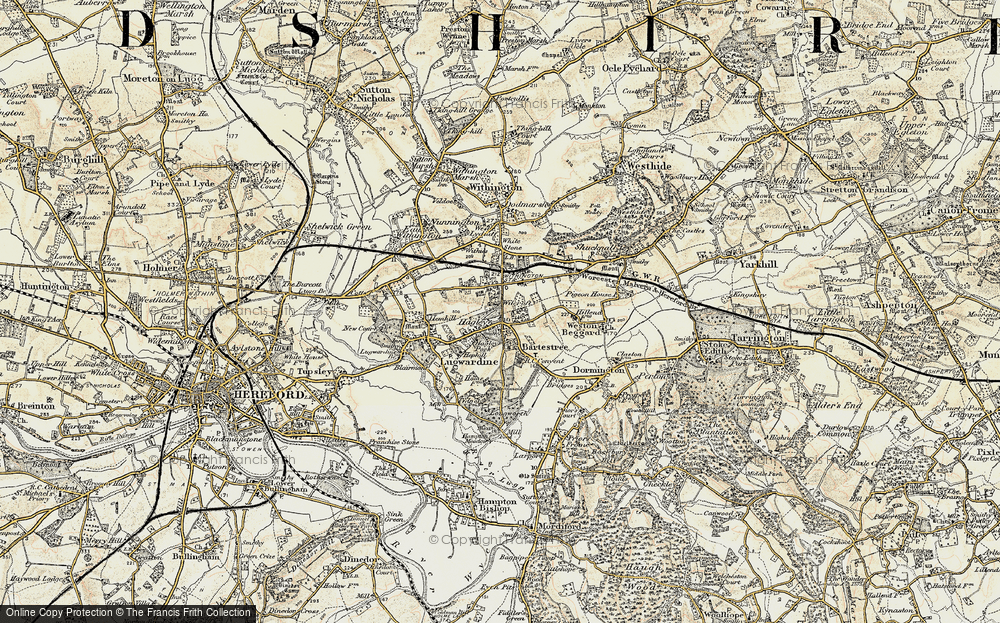 Old Map of Bartestree, 1899-1901 in 1899-1901