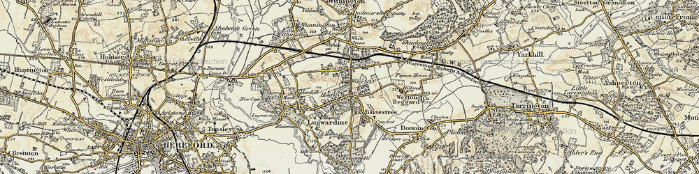 Old map of Wilcroft in 1899-1901