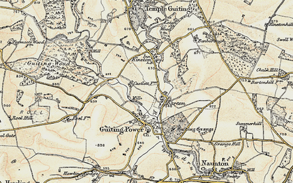 Old map of Barton in 1898-1899
