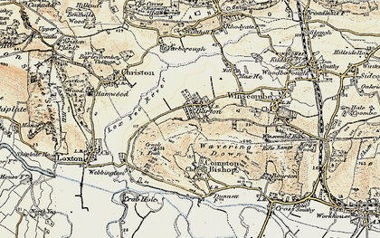 Old map of Barton in 1899-1900