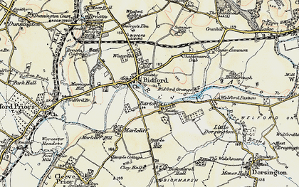 Old map of Barton in 1899-1901