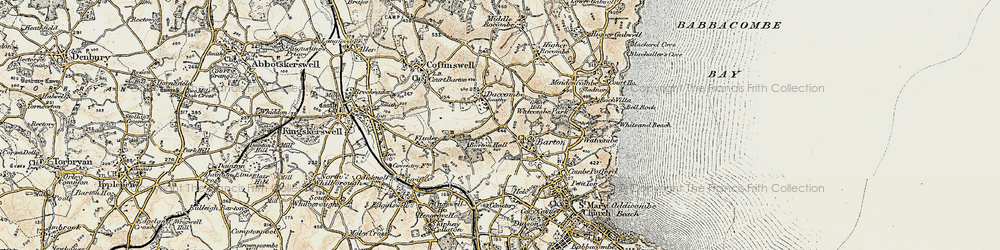 Old map of Barton in 1899