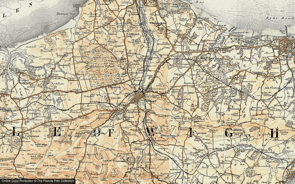 Old Map of Barton, 1899 in 1899