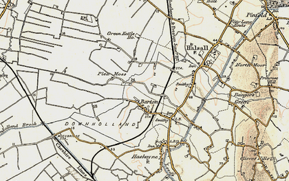 Old map of Barton in 1902-1903
