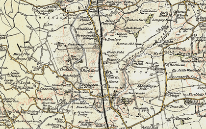 Old map of Barton in 1903-1904