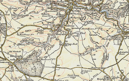 Old map of Barton End in 1898-1900