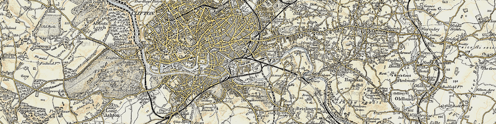 Old map of Barton Hill in 1899