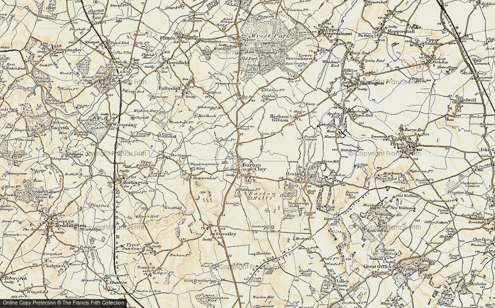 Old Map of Barton-le-Clay, 1898-1899 in 1898-1899