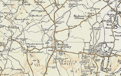 Old map of Barton-le-Clay in 1898-1899