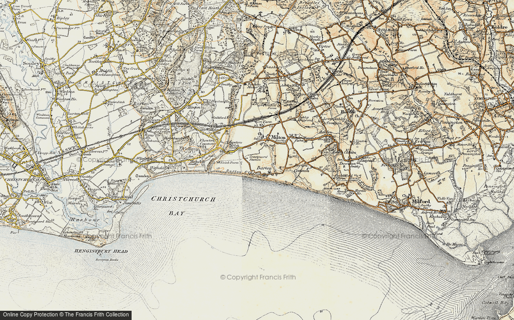 Old Map of Barton on Sea, 1899-1909 in 1899-1909