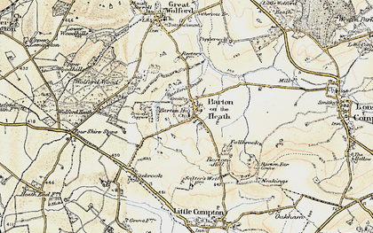 Old map of Barton-on-the-Heath in 1899