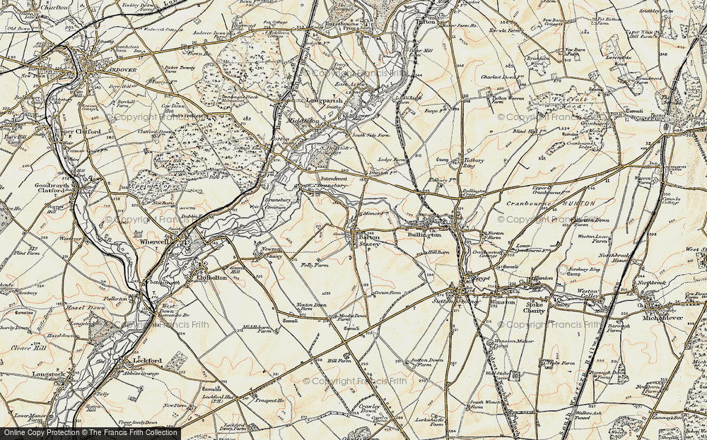Old Map of Historic Map covering Tidbury Common in 1897-1900