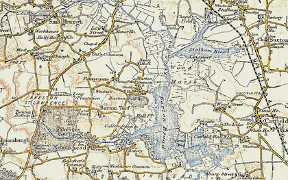 Old map of Barton Turf in 1901-1902