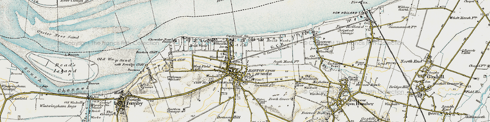 Old map of Barton-Upon-Humber in 1903-1908