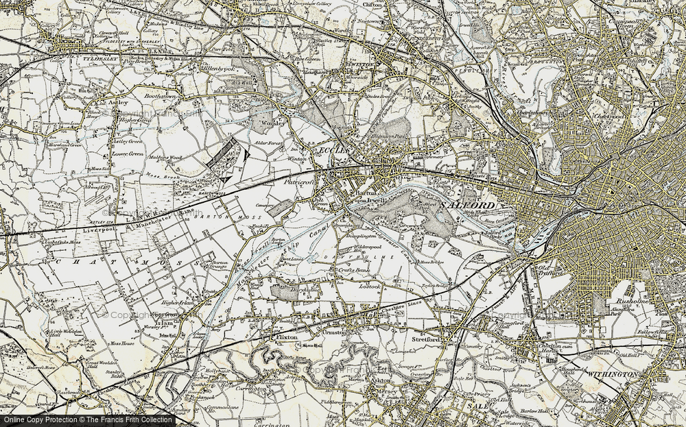 Old Map of Barton Upon Irwell, 1903 in 1903