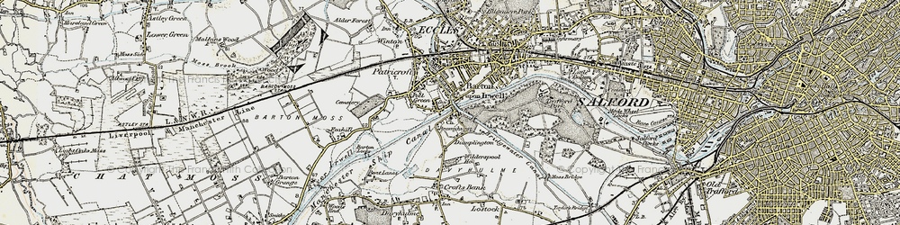 Old map of Barton Upon Irwell in 1903