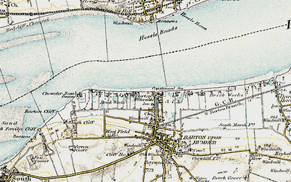 Old map of Barton Waterside in 1903-1908