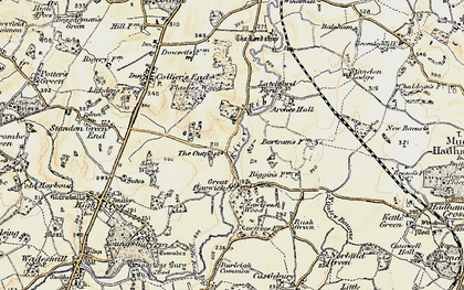 Old map of Barwick in 1898-1899