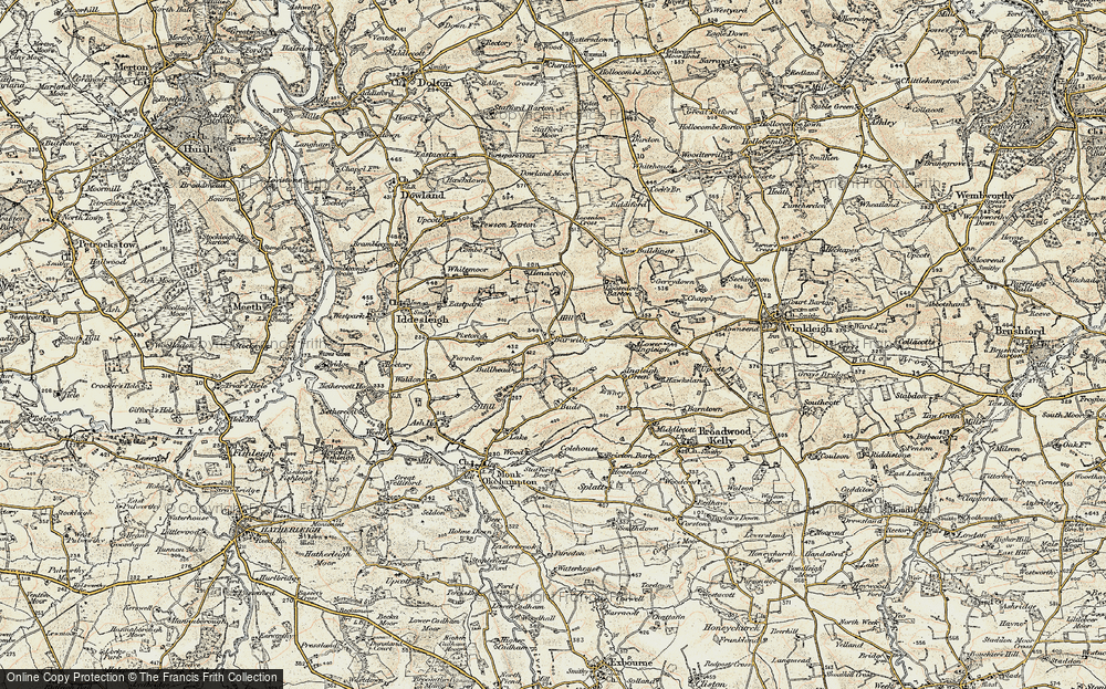 Old Map of Barwick, 1899-1900 in 1899-1900